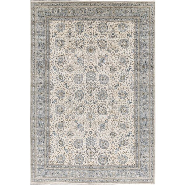 One-of-a-Kind Ziegler Hand-Knotted Light Blue/Ivory 12' x 17'4 Wool Area Rug