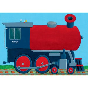 Train Engine Canvas Art by Oopsy Daisy