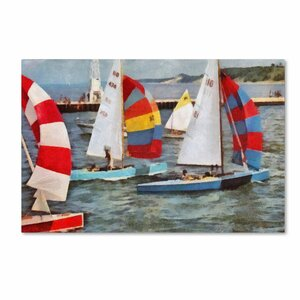 After the Regatta by Michelle Calkins Painting Print on Wrapped Canvas by Trademark Fine Art