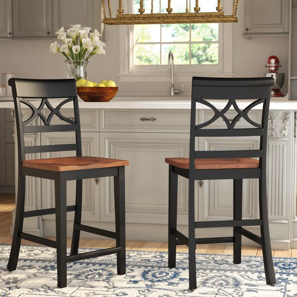 Paulette 24.13 Bar Stool (Set of 2) by Darby Home Co