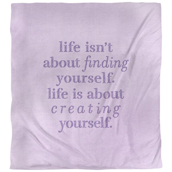 Quotes Handwritten Creating Yourself Single Reversible Duvet Cover