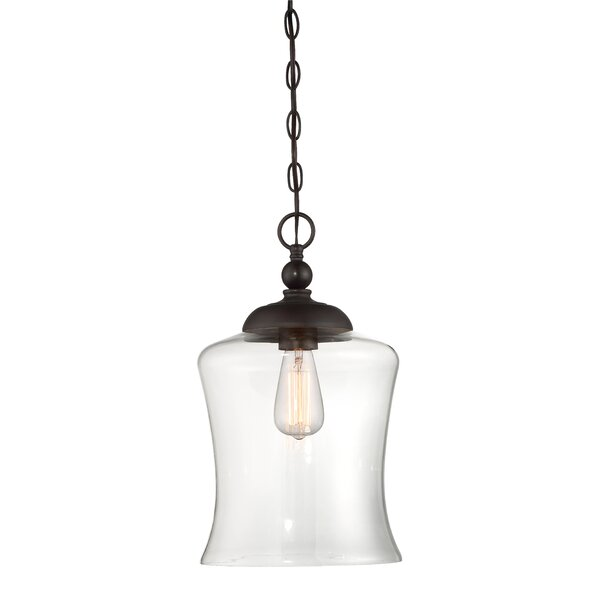 Gammons 1-Light Bell Pendant by Charlton Home