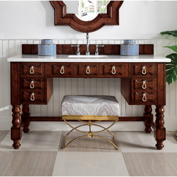 Elizabella 60 Single Aged Cognac Bathroom Vanity Set by Astoria Grand