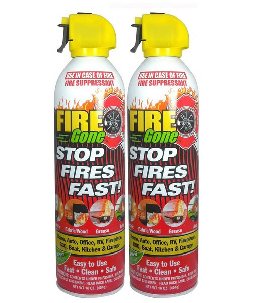 Fire Gone Suppressant (Set of 2) by Max Professional