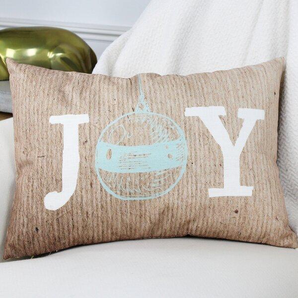 Joy Ornament Paper Lumbar Pillow by One Bella Casa