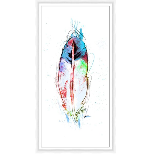 Feather Framed Print of Painting by PTM
