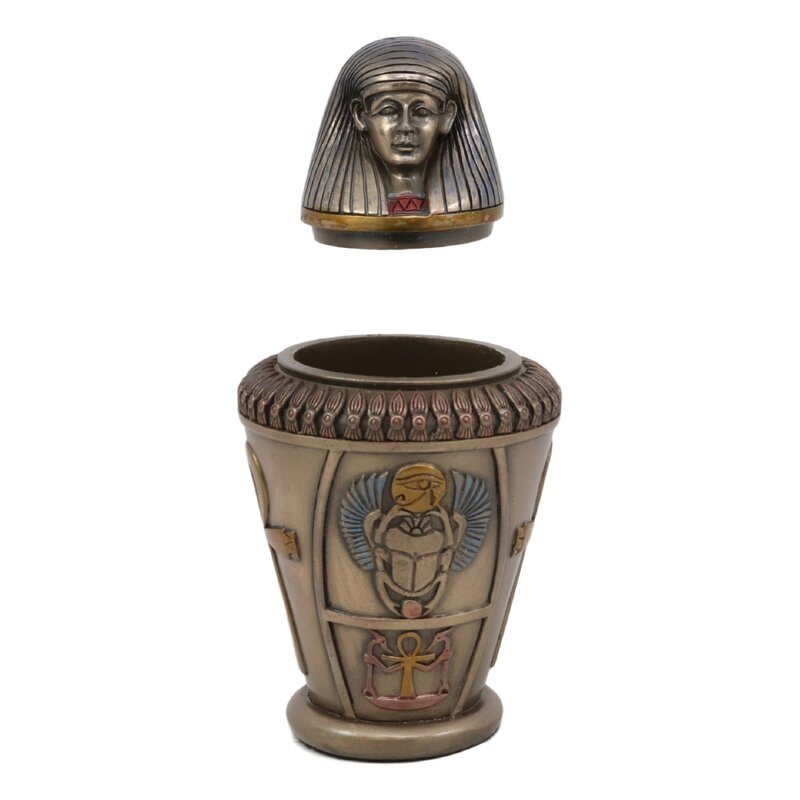 Egyptian Anubis Jar Sculpture Memorial Urn Statue Figurine