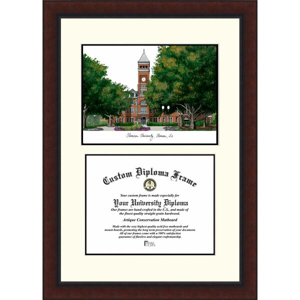 NCAA Clemson University Legacy Scholar Diploma Picture Frame by Campus Images