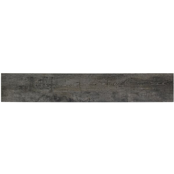 Duzhoor 8 x 48 Porcelain Wood Look Tile in Charcoal by Splashback Tile