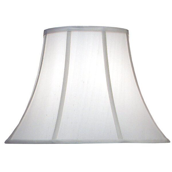13 H Silk/Shantung Bell Lamp Shade ( Spider ) in Off White
