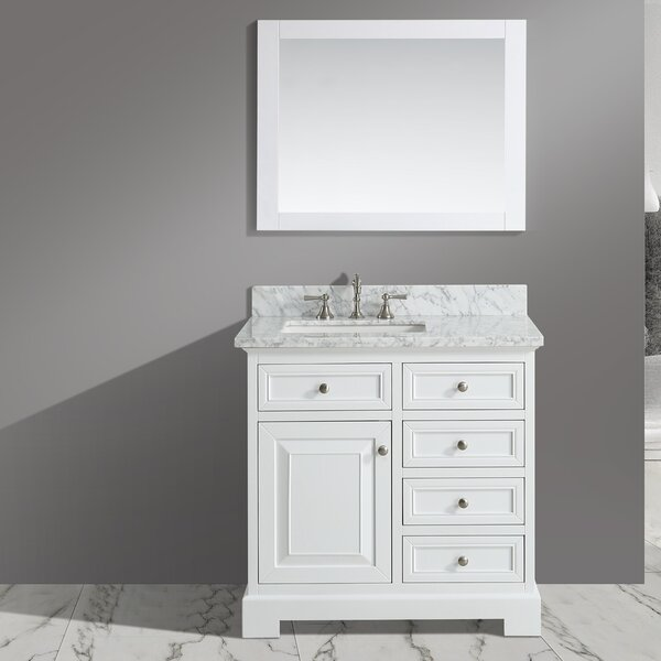 Cathey 36 Single Bathroom Vanity Set with Mirror by Charlton Home