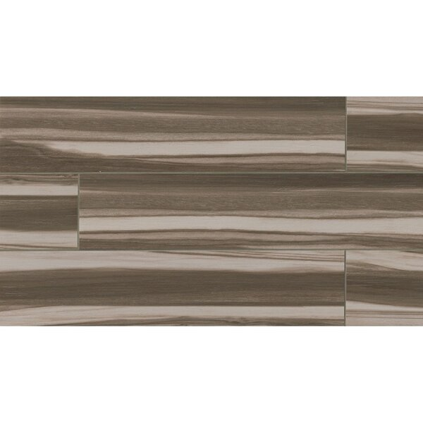 Nantucket 8 x 36 Porcelain Wood Tile in Coffee by Grayson Martin
