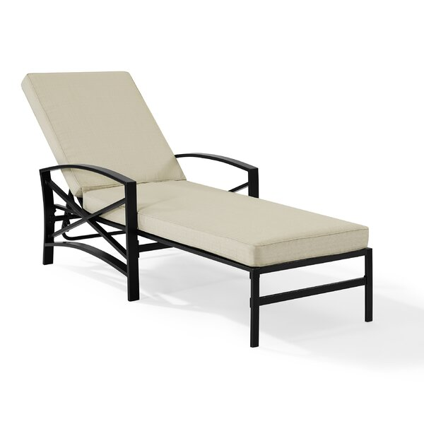 Freitag Reclining Chaise Lounge with Cushion by Ivy Bronx Ivy Bronx