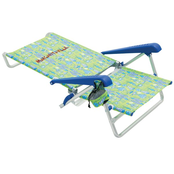 Margaritaville Classic 5-Position Lay Flat Reclining Beach Chair by Rio Brands Rio Brands