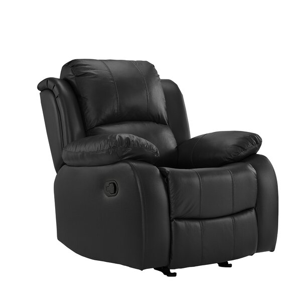 Schrager Oversize Leather Manual Recliner by Red Barrel Studio