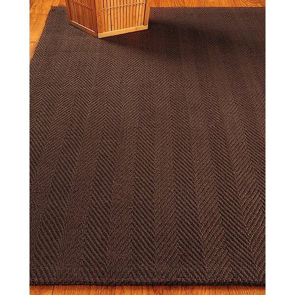 Hand-Woven Chocolate Area Rug by The Conestoga Trading Co.