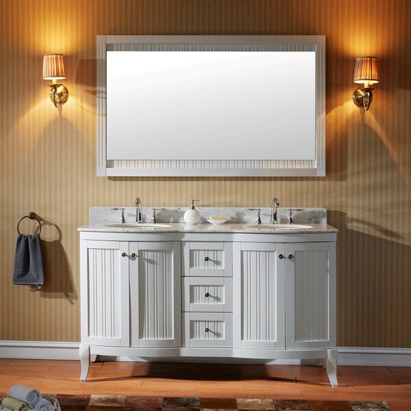 Griffithville 60 Double Bathroom Vanity Set with Mirror by Charlton Home