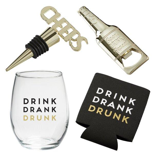 Drink Drank Drunk Bar Tool Set by Kate Aspen