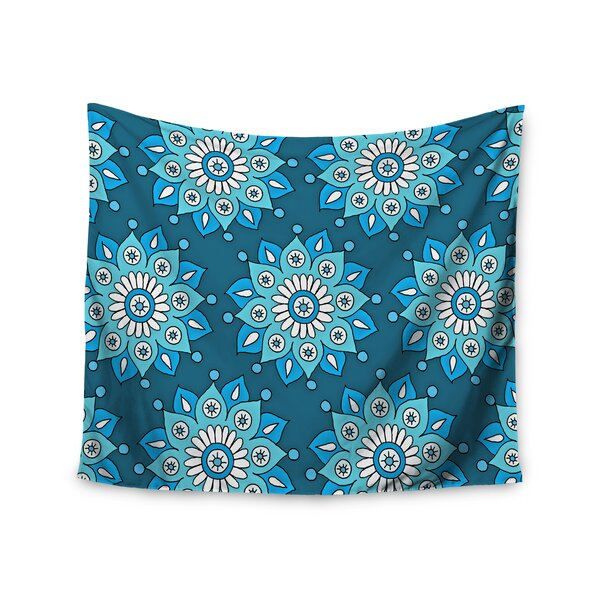 Blue Flower Burst by Sarah Oelerich Wall Tapestry by East Urban Home