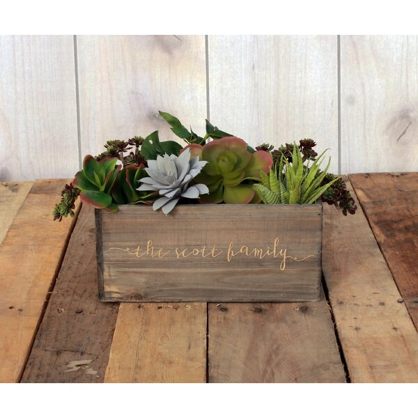 Mandria Personalized Wood Planter Box by Winston Porter