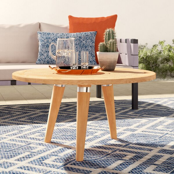 Timmerman Solid Wood 3 Legs Coffee Table By Mistana