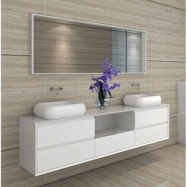 Shreve 72 Wall-Mounted Double Bathroom Vanity Set with Mirror