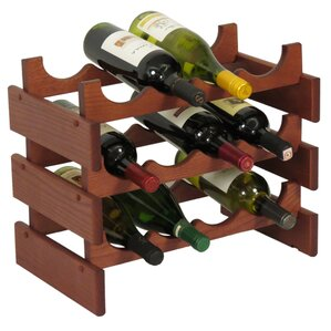 Dakota 12 Bottle Floor Wine Rack by Wooden Mallet