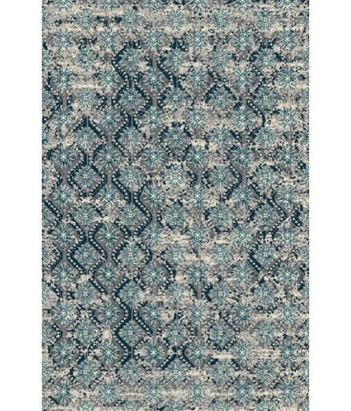 Toombs Turquoise/Silver Indoor/Outdoor Area Rug by Ebern Designs