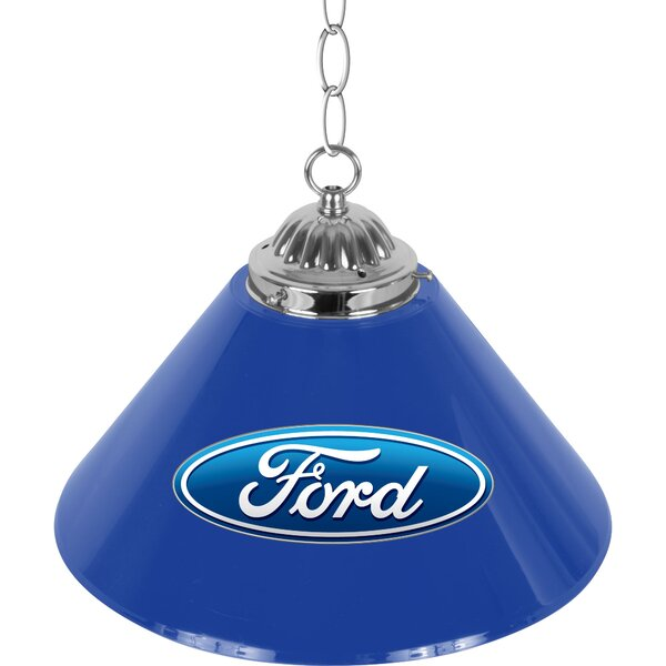 Ford Oval 1-Light Pool Table Lights Pendant by Trademark Global