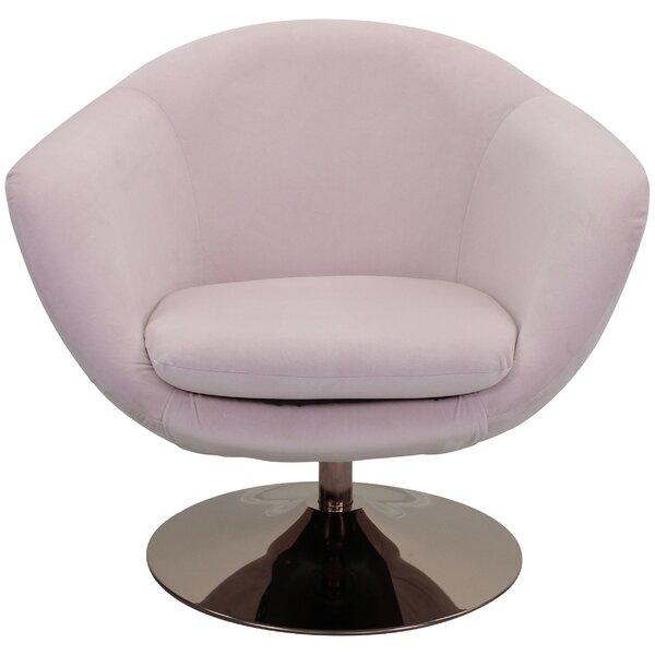 Steinmetz Swivel Barrel Chair by Latitude Run