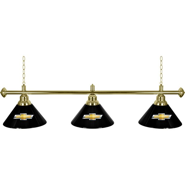 Chevrolet 3 Shade 3-Light Pool Table Light by Trademark Global