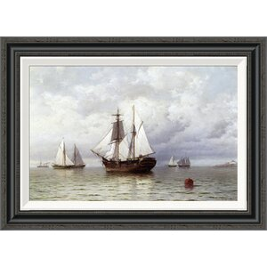 'Outward Bound Whaler' by William Bradford Framed Painting Print by Global Gallery
