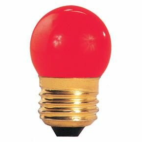 7.5W Red E26 Incandescent Light Bulb (Set of 38) by Bulbrite Industries