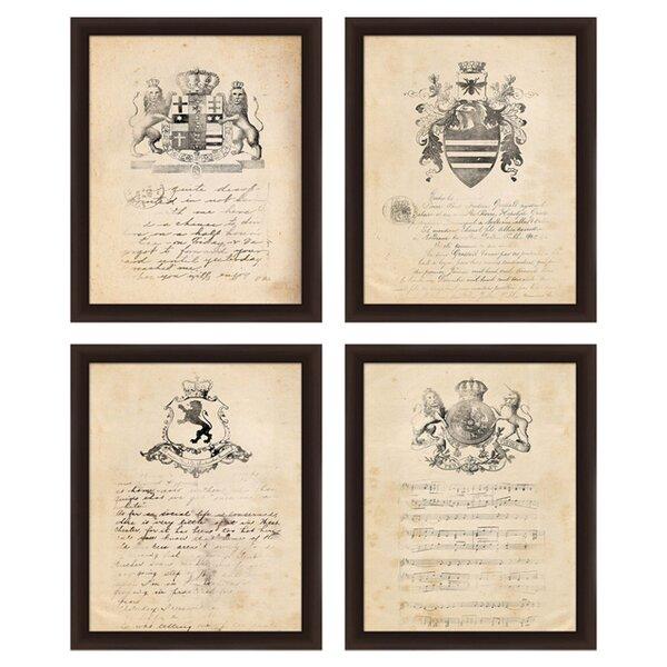 Vintage Crest Framed Print (Set of 4) by PTM