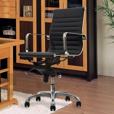 Metro Mid-Back Conference Chair with Arms by Manhattan Comfort