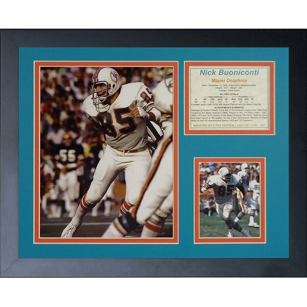 Nick Buoniconti Framed Memorabilia by Legends Never Die