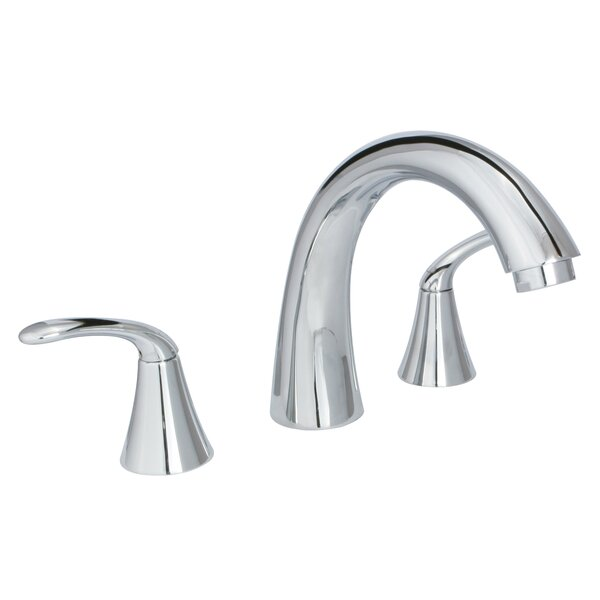 Double Handle Deck Mounted Roman Tub Faucet by Huntington Brass Huntington Brass