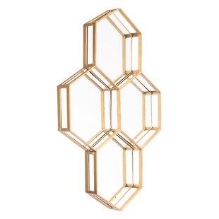 Brayden Studio Whittingham Honeycomb Accent Mirror