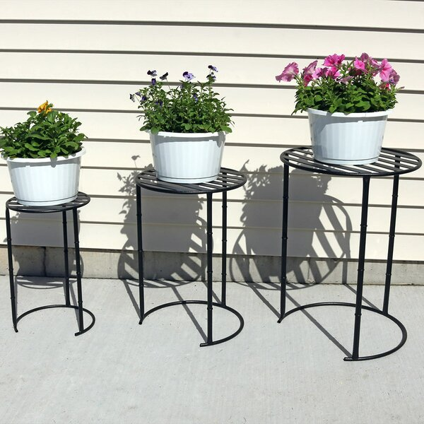 Homestown Modern Indoor/Outdoor Nesting 3 Piece Plant Stand Set by Winston Porter
