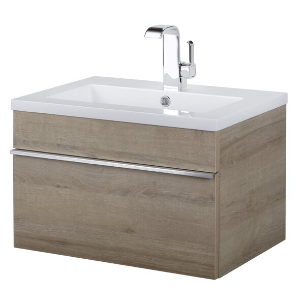 Trough 24 Wall Mounted Single Bathroom Vanity Set by Cutler Kitchen & Bath