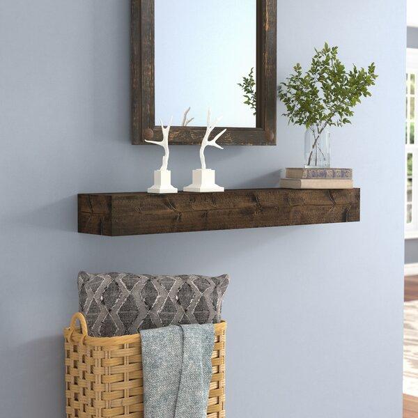Kaydence Wood Floating Shelf by Mistana