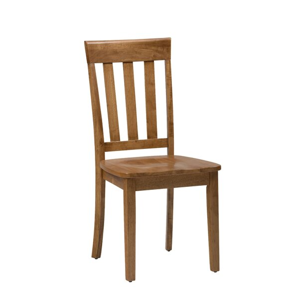 Wallis Slat Back Solid Wood Dining Chair (Set of 2) by August Grove