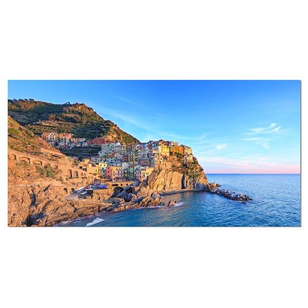 Manarola Village Cinque Terre Italy Photographic Print on Wrapped Canvas by Design Art