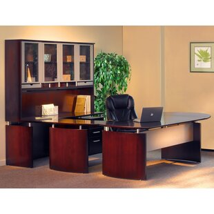 Read Reviews Napoli 8-Piece U-Shape Desk Office Suite By Mayline Group