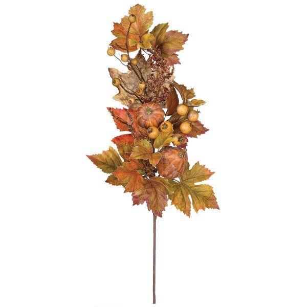 Autumn Floor Foliage Plant (Set of 2) by The Holiday Aisle