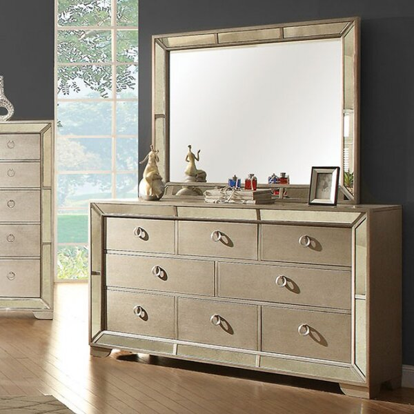 Susann 8 Drawer Double Dresser with Mirror by House of Hampton