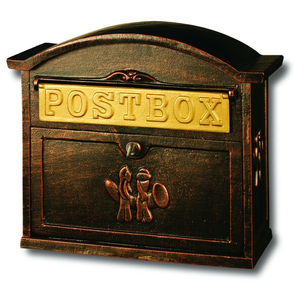 Heavy Duty Cast Iron Locking Wall Mounted Mailbox by Fine Art Lighting