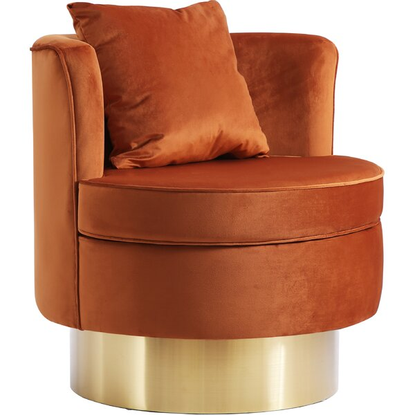 Wyatt Swivel Barrel Chair by Mercer41 Mercer41