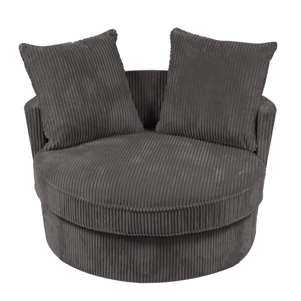 Shamon Chill Cuddler Microfiber Swivel Barrel Chair by Latitude Run Latitude Run
