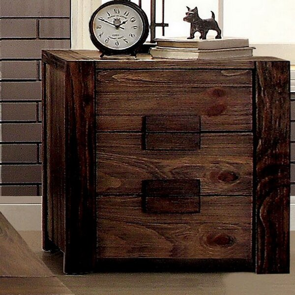 Delyth 2 Drawer Nightstand by Union Rustic